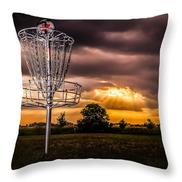 Disc Golf Anyone? Throw Pillow