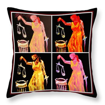 Discard Of Justice Throw Pillow by Mary Schiros