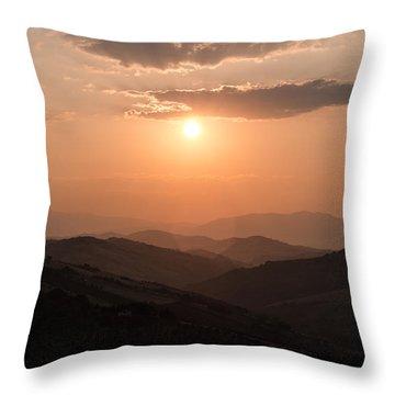 Disciples Of The Sun Throw Pillow
