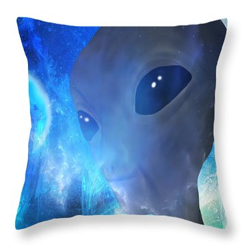Throw Pillow featuring the painting Disclosure by Mark Taylor