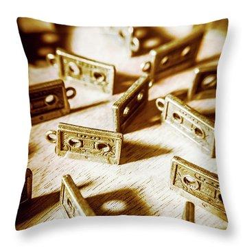 Disco Dancing Cassettes Throw Pillow