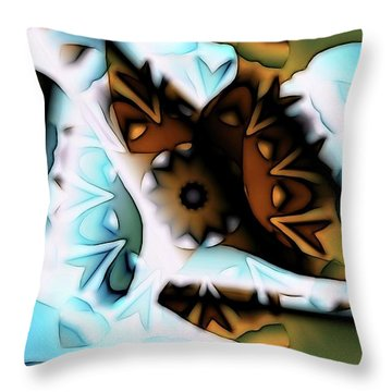 Throw Pillow featuring the digital art Discontinuous Permafrost by Ron Bissett