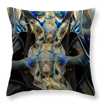 Throw Pillow featuring the painting Discourse Of Course by Steve Sperry