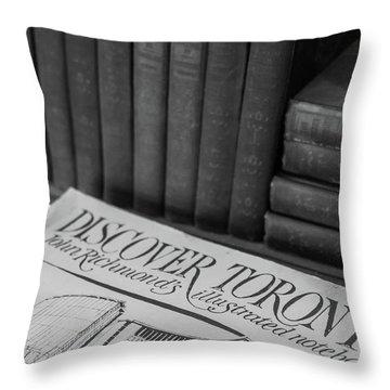 Discover Toronto Throw Pillow