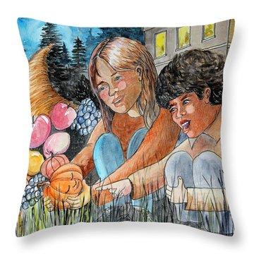 Discovering Heloise O'lantern Throw Pillow