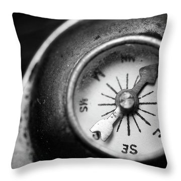 Discovering My Compass Throw Pillow