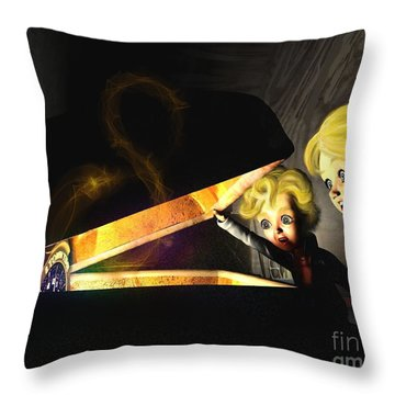 Throw Pillow featuring the painting Discovering The 8 Clock by Dave Luebbert