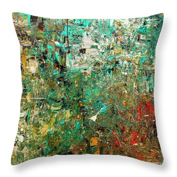 Throw Pillow featuring the painting Discovery - Abstract Art by Carmen Guedez
