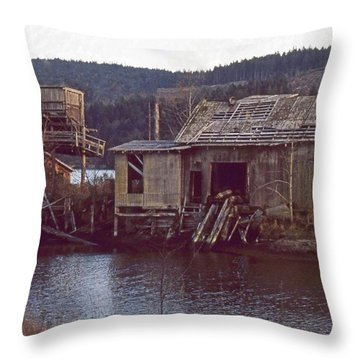 Discovery Bay Mill Throw Pillow by Laurie Stewart