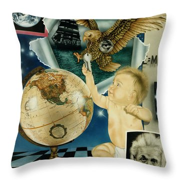 Discovery Of The New World Throw Pillow
