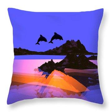 Discovery Throw Pillow by Robert Orinski