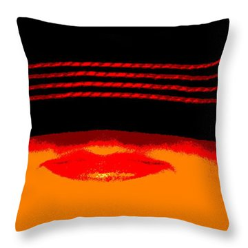 Discretion Throw Pillow