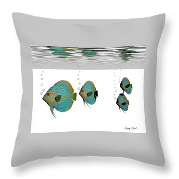 Discus Fish Throw Pillow by Corey Ford