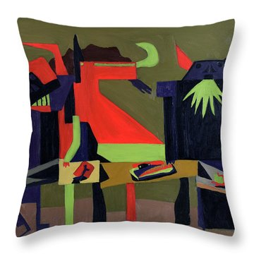 Throw Pillow featuring the painting Disfeastitia by Ryan Demaree