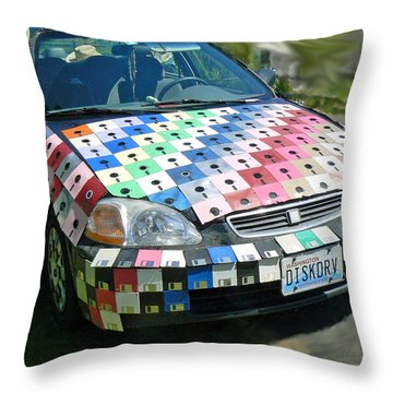 Diskdrv Throw Pillow by Pamela Patch