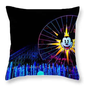 Disney California Adventure Mickey's Fun Wheel Throw Pillow