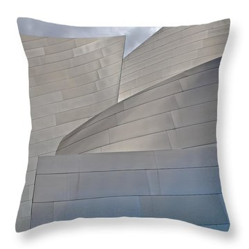 Throw Pillow featuring the photograph Disney Concert Hall by Kim Wilson