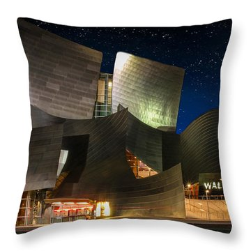 Disney Concert Hall Throw Pillow by Robert Hebert
