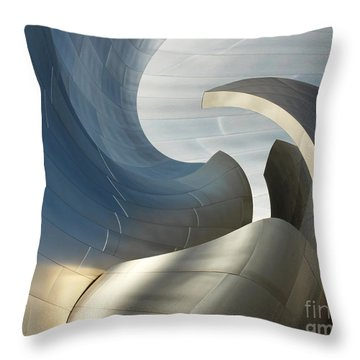 Disney Concert Hall Swirl Throw Pillow by Cheryl Del Toro