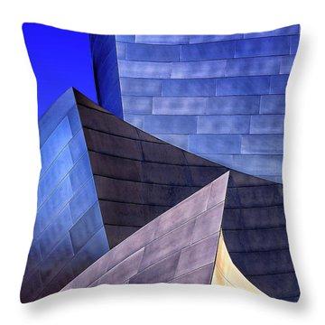 Disney Hall Abstract Throw Pillow