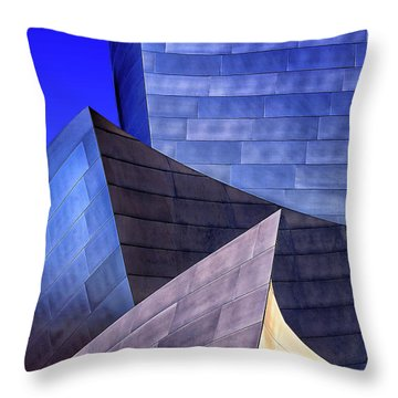 Disney Hall Abstract Throw Pillow