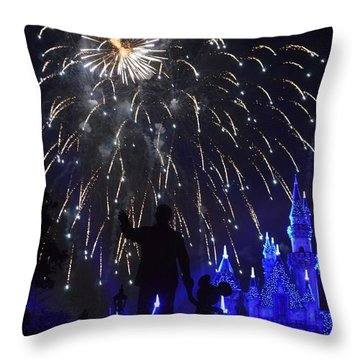 Disneyland By Fireworks Throw Pillow