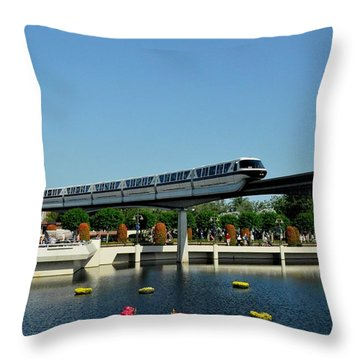 Disney Monorail Throw Pillow