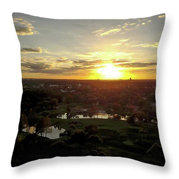 Disney Sunset Throw Pillow by Michael Albright
