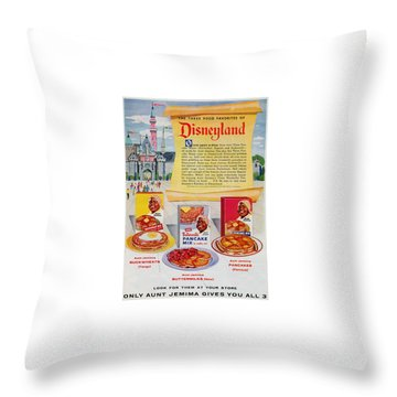 Disneyland And Aunt Jemima Pancakes  Throw Pillow