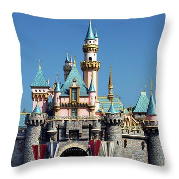 Throw Pillow featuring the photograph Disneyland Castle by Mariola Bitner