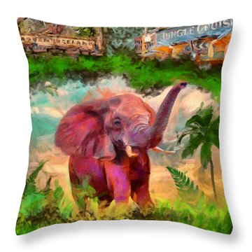 Disney's Jungle Cruise Throw Pillow by Caito Junqueira