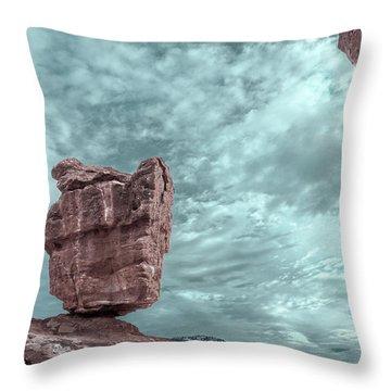 Disparate Colors  Throw Pillow