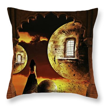 Dispersion Dream Throw Pillow by Mihaela Pater