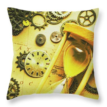 Displacing The Timeline Throw Pillow