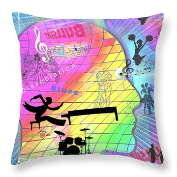Dissociation Blues Throw Pillow