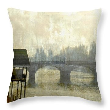 Dissolving Mist Throw Pillow