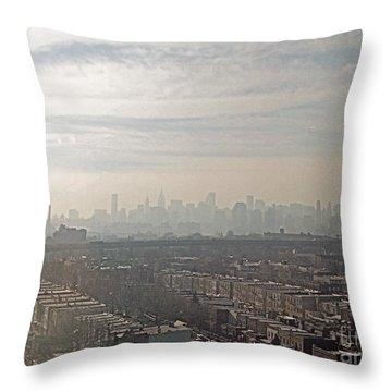 Distant City Throw Pillow