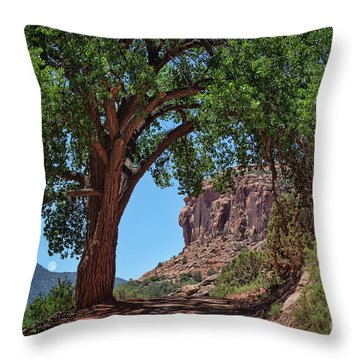 Distant Escalante Moon Throw Pillow