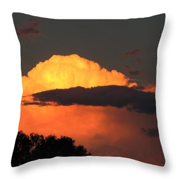 Distant Evening Storm Throw Pillow