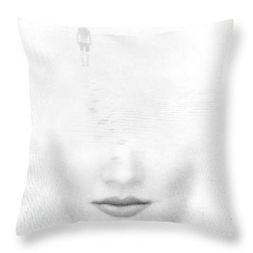 Distant Footsteps Throw Pillow