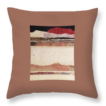 Distant Hills Throw Pillow by Barbara Tibbets