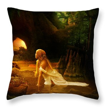 Distant Horizon Throw Pillow by Mary Hood