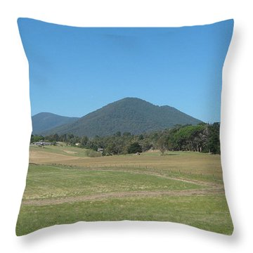 Distant Moutains Throw Pillow