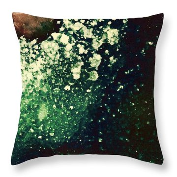 Distant Planets Throw Pillow by Susan Kubes