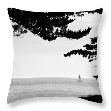 Distant Sails Throw Pillow