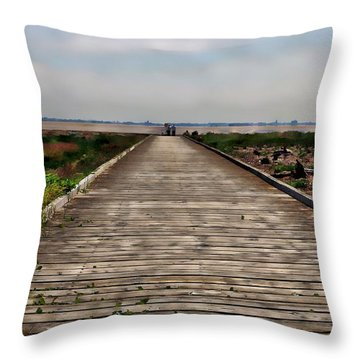 Distant Shores Throw Pillow