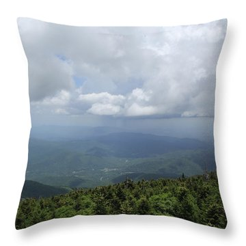 Distant Storm Throw Pillow
