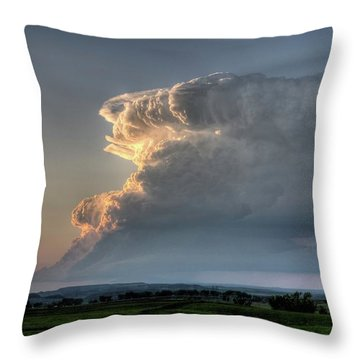 Distant Thunderstorm Throw Pillow