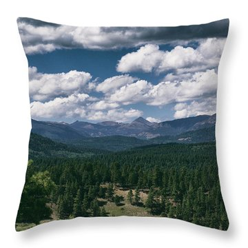 Distant Windows Throw Pillow