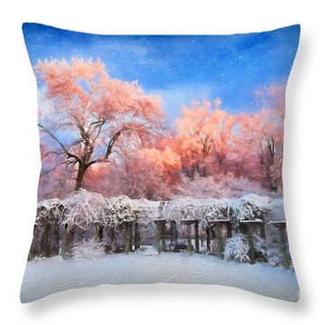 Distinctly Pink Throw Pillow by Dan Carmichael